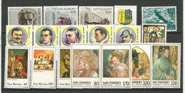 Année 1979. 18 T-p Neufs **  (series Einstein,litterature Policiere,Maigret,Sherloc K Holmes,etc) - Saint-Marin