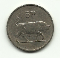 1975 - Irlanda 5 Pence, - Irlanda