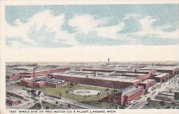 Michigan Lansing Birds Eye View Of Reo Motor Company Plant