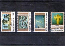 1982  ART. OEUVRES DE SABIN BALASA  Mi 3892/3895 Et Yv 3400/3403 MNH - 1948-.... Republics