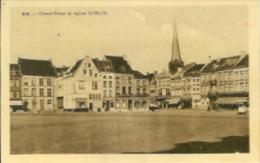 Belgique:ATH(Hainaut): Grand´Place Et église St-Martin.Edition Belge. - Belgique