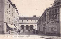 CPA 88 @ EPINAL @ Rue De La Comédie Et Le Théâtre @ Vélos Cycistes - Pub Union Française Anti Alcoolique - Epinal