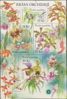 O) 2012 CZECH REPUBLIC, ORCHIDS MINIATURE, FLOWERS, SOUVENIR MNH. - Czech Republic