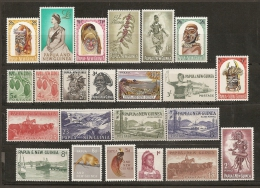 PAPUA NUEVA GUINEA 1958/64 - Yvert #18/40 - MLH * - Papúa Nueva Guinea