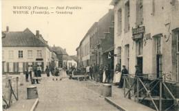 """Wervik / Wervicq  - Grensbrug / Pont Frontière - Geanimeerd  - Café """" A L'Arrêt De La Douane """" ( Verso Zien ) - Wervik"""
