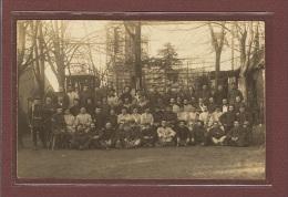ALLEMAGNE - WEINGARTEN - SUPERBE CARTE PHOTO - GROUPE DE MILITAIRES DANS UN JARDIN - Guerra 1914-18