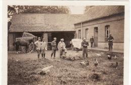 Photo Originale 1915 DIEVAL (près Saint-Pol-sur-Ternoise) - Cantonnement De La 18ème Cie Du 239ème RI (A28, Ww1, Wk1) - France