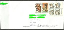 USA Cover With Several Stamps To ESTONIA Estland Estonie 2013 - Entiers Postaux