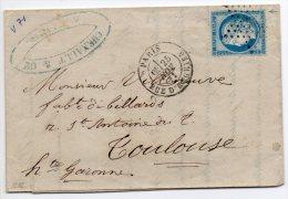 N°60A - VARIETE BARAT/SUARNET N° 71  Filet Droit Doublé Et Absent En Bas, Sur Lettre - 1871-1875 Ceres