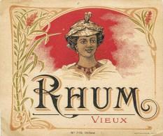 """BELLE PUBLICITE ART NOUVEAU : RHUM VIEUX """" NEGRESSE """" ANTILLES MARTINIQUE GUADELOUPE GUYANE REUNION ALCOOL - Alcools"""