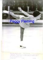 Photographie Argentique De Pressse 25 X 20 Cm Grenoble Jeux Olympiques Peguy Flemming  Médaille De D'or - Skating (Figure)