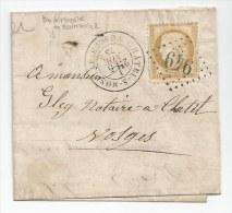 """- Lettre - VOSGES - CHATEL-S-MOSELLE GC.949 S/TP N°59 - PORT LOCAL - Càd T.17 - BR """"N"""" 1875 - 1871-1875 Ceres"""