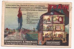 Courbevoie - Ets Train - Moteurs Et Groupes Train - Cpsm - France