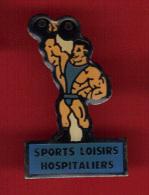 28625-pin's Culturisme.halterophilie. Medical.Hopital. - Weightlifting