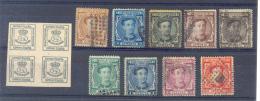 """España 1876 """" Alfonso XII """" Edifil 173/82 Usados. Precio Catálogo 505.00 Euros - Usados"""