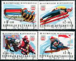 Österreich - Michel 1479 / 1482 - OO Gestempelt (B) - Winterolympiade 76 I - Wert: 2,00 Mi€ - 1945-.... 2. Republik
