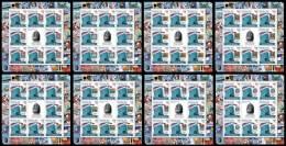GUINEA BISSAU 2012 - Philatelic Exposition ROSSICA´2013. 8 M/S - Mi 5730-7, YT 4191-8 - Schaken