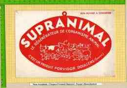 BUVARD  : Produit Porvigor  SUPRANIMAL Differents Animaux Veaux Vaches Cochons Cheval Ect. - Animaux