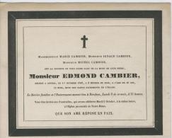 Cambier Edmond, Anvers 1er Octobre 1845 - Obituary Notices