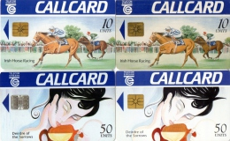 TELECARTES  IRLANDE  10/50 Units  Chevaux  Horses (lot De 4) - Irlande