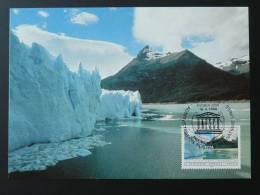 Patrimoine Mondial World Heritage Glacier Argentine Argentina Carte Maximum Maxi Card Nations Unies United Nations - Geología