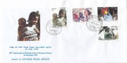 Stamps ERITREA 1999 SC 328-331 FDC ERITREA WEMENS UNION IPZS ITALY - Eritrea