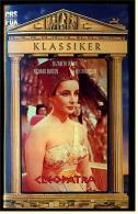 VHS Video , Cleopatra  -  Mit :  Elizabeth Taylor, Richard Burton, Rex Harrison, Pamela Brown, George Cole  -  Von 1990 - Classic
