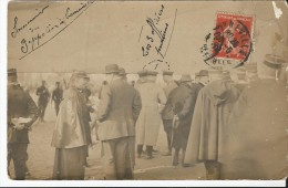 Lunéville 54    Carte Photo Souvenir Du Zeppelin à Lunéville   1912 Rencontre Avec 3 Officiers Prussiens - Luneville