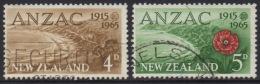 NEW ZEALAND 1965 ANZAC SET  USED - New Zealand