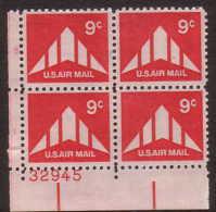 U.S. C77  **  Plate Block - Air Mail