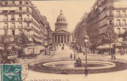Cp , 75 , PARIS , La Rue Soufflot Et Le Panthéon - Unclassified