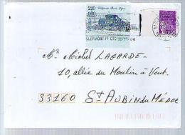 France Lettre CAD Clermont Ferrand 30-11-2000 / Tp 3088 Marianne 14 Juillet & 2577 Journée Du Timbre 1989 Diligence - France
