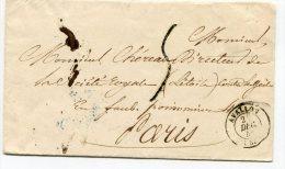 YONNE De AVALLON LSC Du 24/12/1844 Avec Cachet T 15 Taxée à 5 Pour PARIS - Marcophilie (Lettres)
