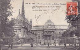 Cp , 75 , PARIS , Palais De Justice Et Sainte Chapelle - France