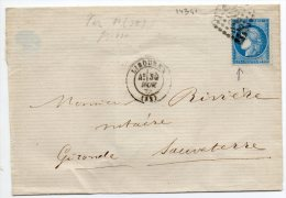 N°60A - VARIETE BARAT/SUARNET N°79  Enfoncement  Filet Inférieur Sous 25C De Gauche, Sur Lettre - 1871-1875 Ceres