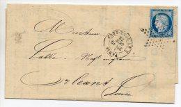 N°60A - VARIETE BARAT/SUARNET N°81  Enfoncement  Général Du Filet Inférieur, Sur Lettre - 1871-1875 Ceres