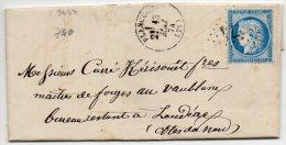N°60A - VARIETE BARAT/SUARNET N°83  O De POSTES Barré à Droite, Sur Lettre - 1871-1875 Ceres