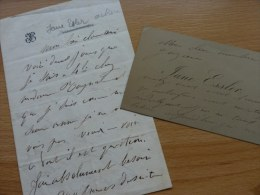 Jane Fœssler Dite Jane ESSLER (1836-1892), Actrice. - AUTOGRAPHE. - Autographs