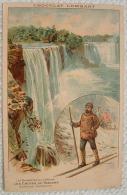 Chocolat Lombart - Les Merveilles De La Nature - Les Chutes Du Niagara - Costume Canadien - Publicité