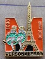 PARIS FRANCE - PERSONALFESTEN - FETE DU PERSONNEL  MIGROS DE BRÜGG  - TOUR EIFFEL - DANSEUSES DU MOULIN ROUGE   -   (4) - Villes