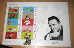 5 Commemorative Sheets (6 Scans)100 Jaar Bob & Bobette, Suske & Wiske - Collectors Item Limited Edition - Belgique