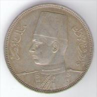 EGYPT / EGITTO - FAROUK - 5 PIASTRES (1937) AG - Silver - Egitto