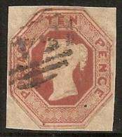 GRAN BRETAÑA 1847/54 - Yvert #6 (Recortado) - Precio Cat. €1300 - 1840-1901 (Victoria)