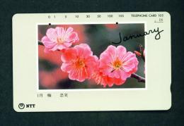 JAPAN - Magnetic Phonecard - Flower(s) As Scan (271-051) - Fleurs