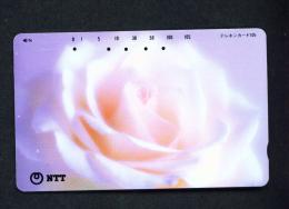 JAPAN - Magnetic Phonecard - Flower(s) As Scan (111-071) - Blumen