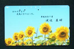 JAPAN - Magnetic Phonecard - Flower(s) As Scan (110-310) - Blumen