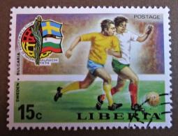 Briefmarke Football LIBERIA Coupe Du Monde Fußball Weltmeisterschaft Deutschland - Coppa Del Mondo