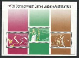 1982 Special Mini Sheet X!! Commonwealth Games Brisbane 1982 Issue  Complete Mint Unhinged Gum - Blocks & Sheetlets