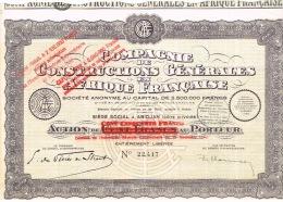 Action France Compagnie Constructions Generales Afrique Francaise Abidjan Cote Ivoire 1935 TB - Afrika