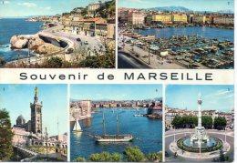 CP - PHOTO - SOUVENIR DE MARSEILLE - 146 - MULTIVUES - NOTRE DAME DE LA GARDE - LA CORNICHE - LE PORT - FONTAINE CANTINI - Ohne Zuordnung